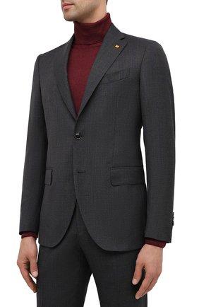 Мужской шерстяной костюм SARTORIA LATORRE темно-серого цвета, арт. A6I7EF Q81284 | Фото 2
