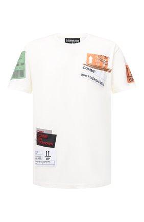 Мужская хлопковая футболка COMME DES FUCKDOWN белого цвета, арт. CDFU994 | Фото 1