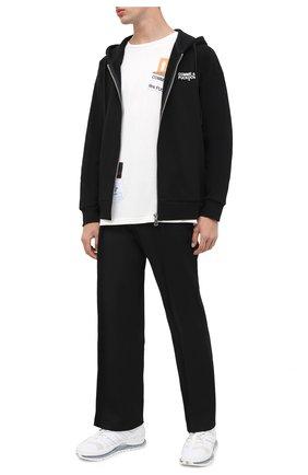 Мужская хлопковая футболка COMME DES FUCKDOWN белого цвета, арт. CDFU994 | Фото 2
