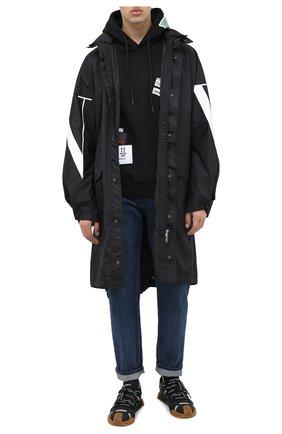 Мужской хлопковое худи COMME DES FUCKDOWN черного цвета, арт. CDFU992 | Фото 2
