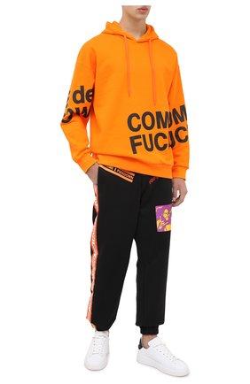 Мужской хлопковое худи COMME DES FUCKDOWN оранжевого цвета, арт. CDFU967 | Фото 2
