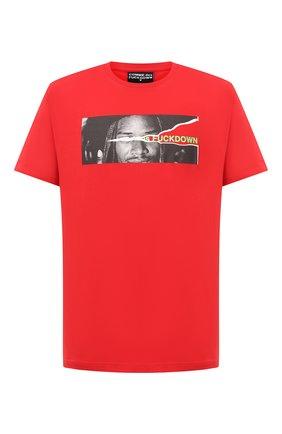 Мужская хлопковая футболка COMME DES FUCKDOWN красного цвета, арт. CDFU1077 | Фото 1