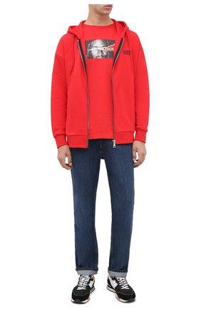 Мужская хлопковая футболка COMME DES FUCKDOWN красного цвета, арт. CDFU1077 | Фото 2