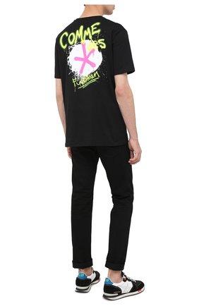Мужская хлопковая футболка COMME DES FUCKDOWN черного цвета, арт. CDFU1073 | Фото 2