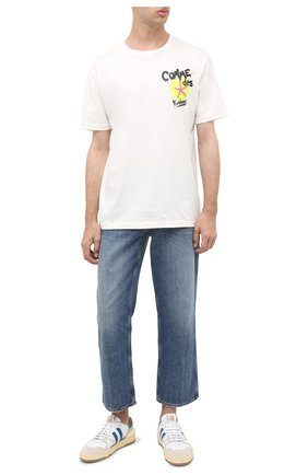 Мужская хлопковая футболка COMME DES FUCKDOWN белого цвета, арт. CDFU1073 | Фото 2