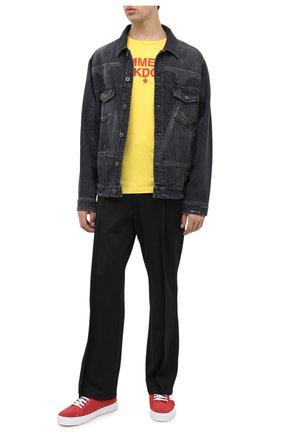 Мужская хлопковая футболка COMME DES FUCKDOWN желтого цвета, арт. CDFU1057 | Фото 2