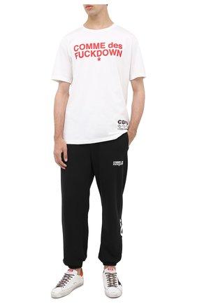Мужская хлопковая футболка COMME DES FUCKDOWN белого цвета, арт. CDFU1057 | Фото 2