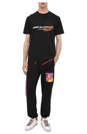 Мужская хлопковая футболка COMME DES FUCKDOWN черного цвета, арт. CDFU1005 | Фото 2