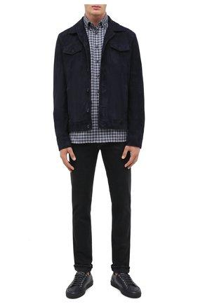 Мужская хлопковая рубашка VAN LAACK темно-синего цвета, арт. R0Y-TF/156500 | Фото 2