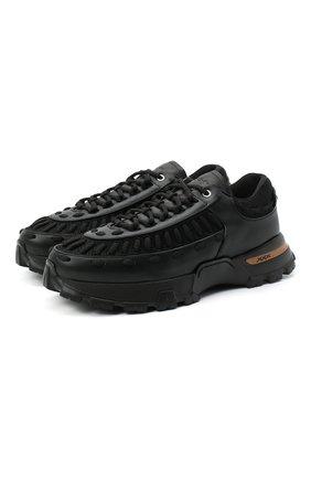 Мужские комбинированные кроссовки claudio ZEGNA COUTURE черного цвета, арт. A4256X-LHSSP | Фото 1