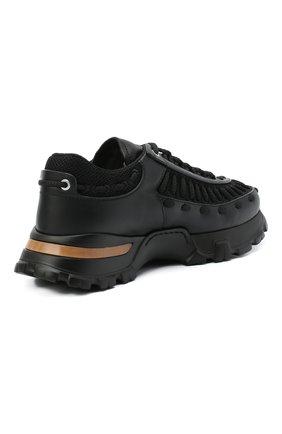 Мужские комбинированные кроссовки claudio ZEGNA COUTURE черного цвета, арт. A4256X-LHSSP | Фото 4 (Материал внешний: Текстиль; Материал внутренний: Натуральная кожа, Текстиль; Стили: Гранж; Подошва: Массивная)