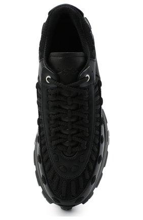 Мужские комбинированные кроссовки claudio ZEGNA COUTURE черного цвета, арт. A4256X-LHSSP | Фото 5 (Материал внешний: Текстиль; Материал внутренний: Натуральная кожа, Текстиль; Стили: Гранж; Подошва: Массивная)