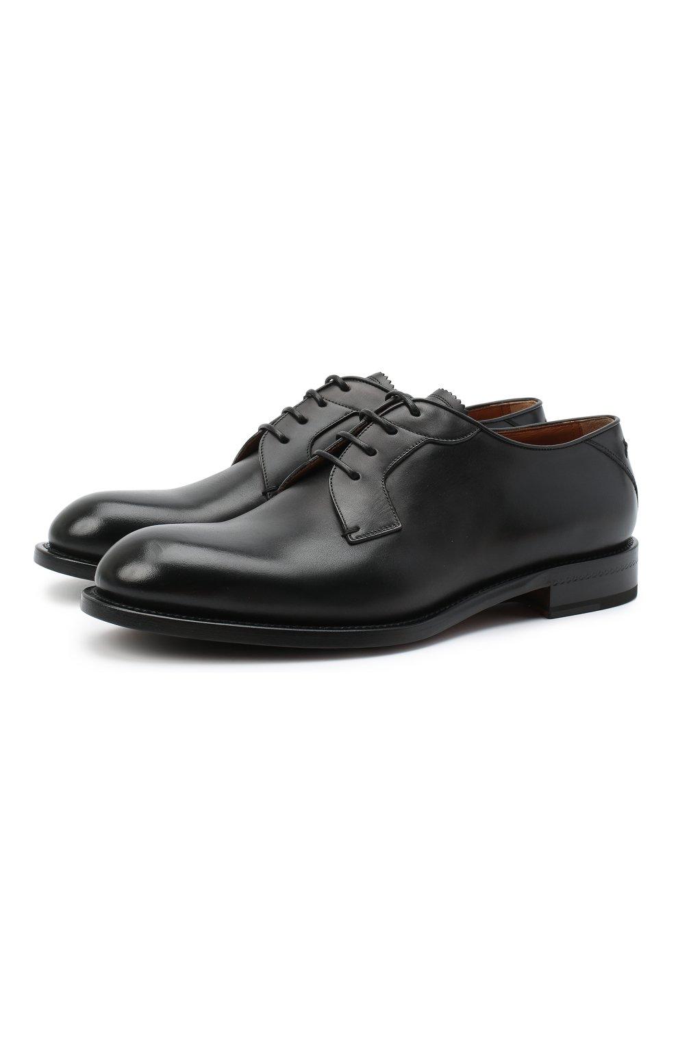 Мужские кожаные дерби ZEGNA COUTURE черного цвета, арт. A4418X-LHB0C   Фото 1 (Материал внутренний: Натуральная кожа; Стили: Классический)