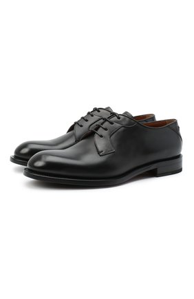Мужские кожаные дерби ZEGNA COUTURE черного цвета, арт. A4418X-LHB0C | Фото 1 (Материал внутренний: Натуральная кожа; Стили: Классический)