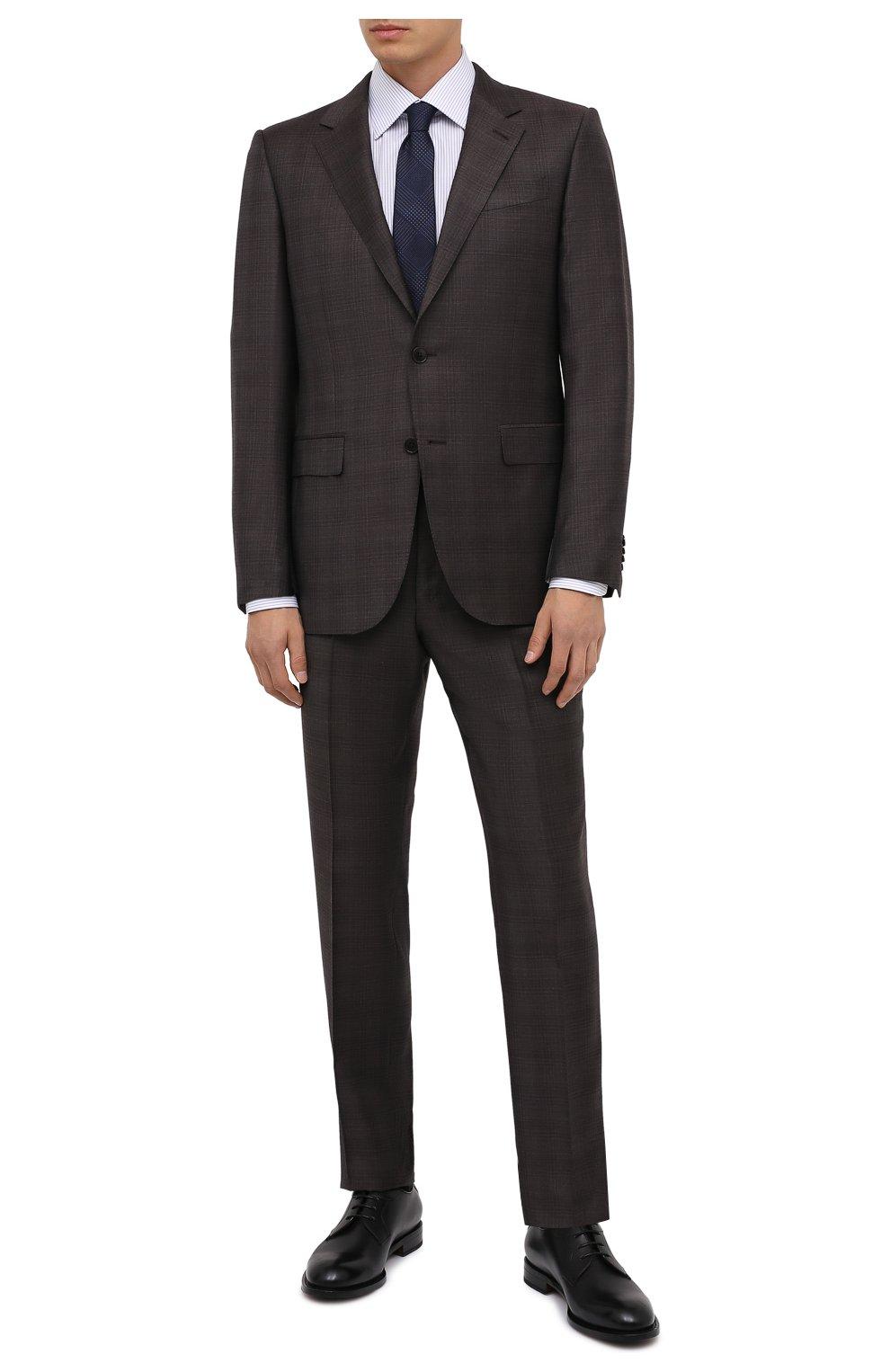 Мужские кожаные дерби ZEGNA COUTURE черного цвета, арт. A4418X-LHB0C   Фото 2 (Материал внутренний: Натуральная кожа; Стили: Классический)