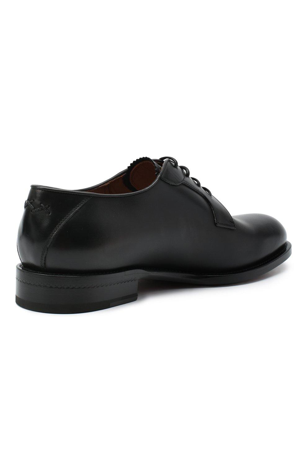 Мужские кожаные дерби ZEGNA COUTURE черного цвета, арт. A4418X-LHB0C   Фото 4 (Материал внутренний: Натуральная кожа; Стили: Классический)