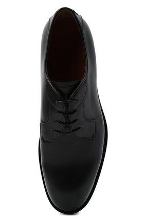 Мужские кожаные дерби ZEGNA COUTURE черного цвета, арт. A4418X-LHB0C   Фото 5 (Материал внутренний: Натуральная кожа; Стили: Классический)
