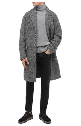 Мужской свитер из шерсти и кашемира KENZO серого цвета, арт. FA65PU5023AE | Фото 2