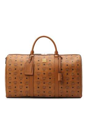 Мужская дорожная сумка traveler MCM коричневого цвета, арт. MMV AAVY02 | Фото 1