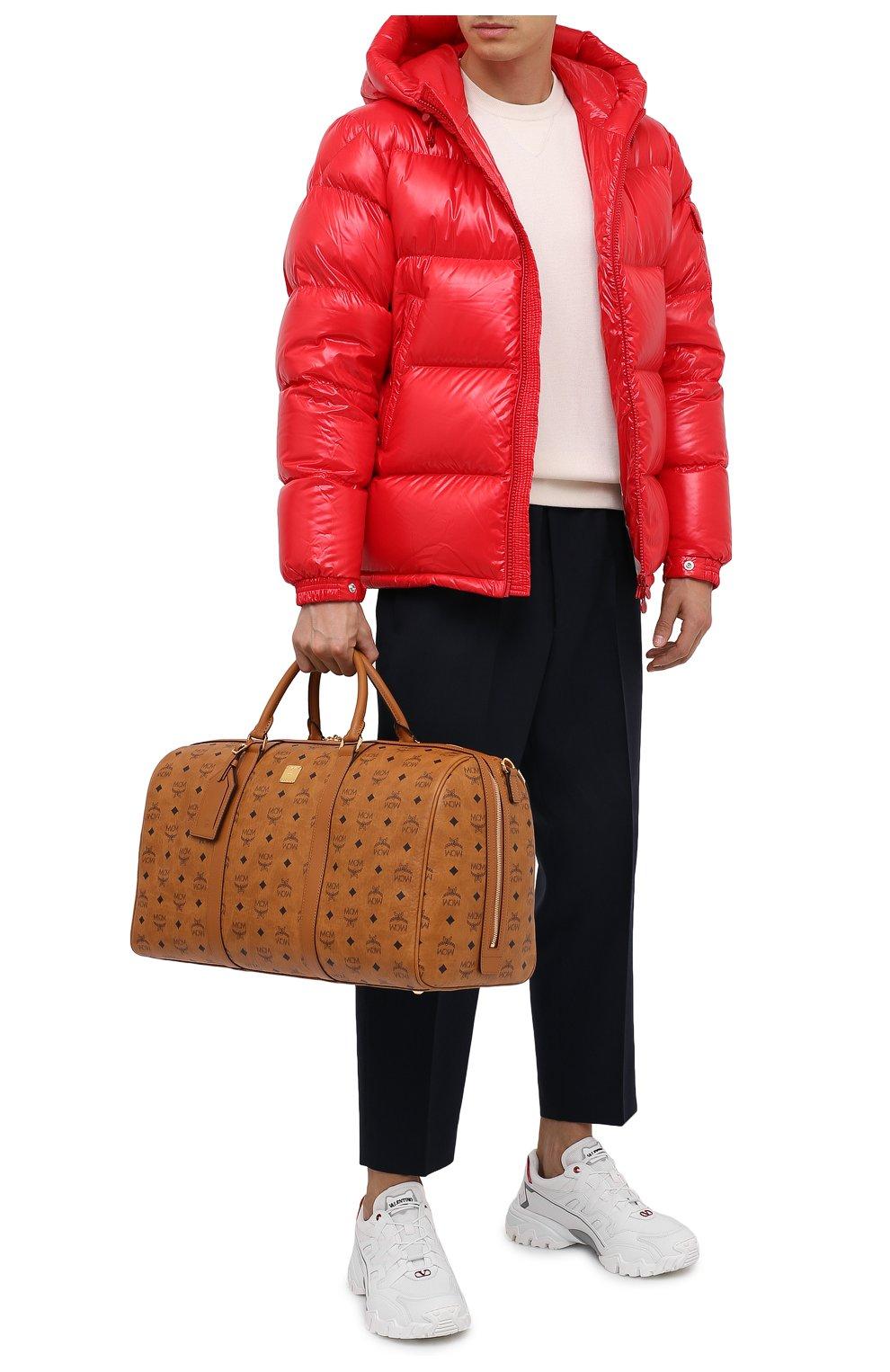 Мужская дорожная сумка traveler MCM коричневого цвета, арт. MMV AAVY02 | Фото 2