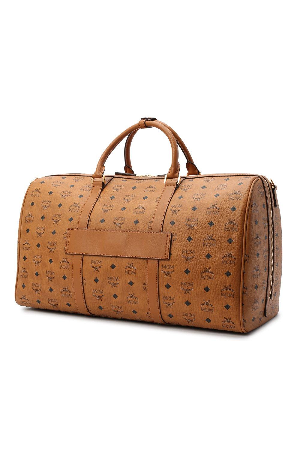 Мужская дорожная сумка traveler MCM коричневого цвета, арт. MMV AAVY02 | Фото 3