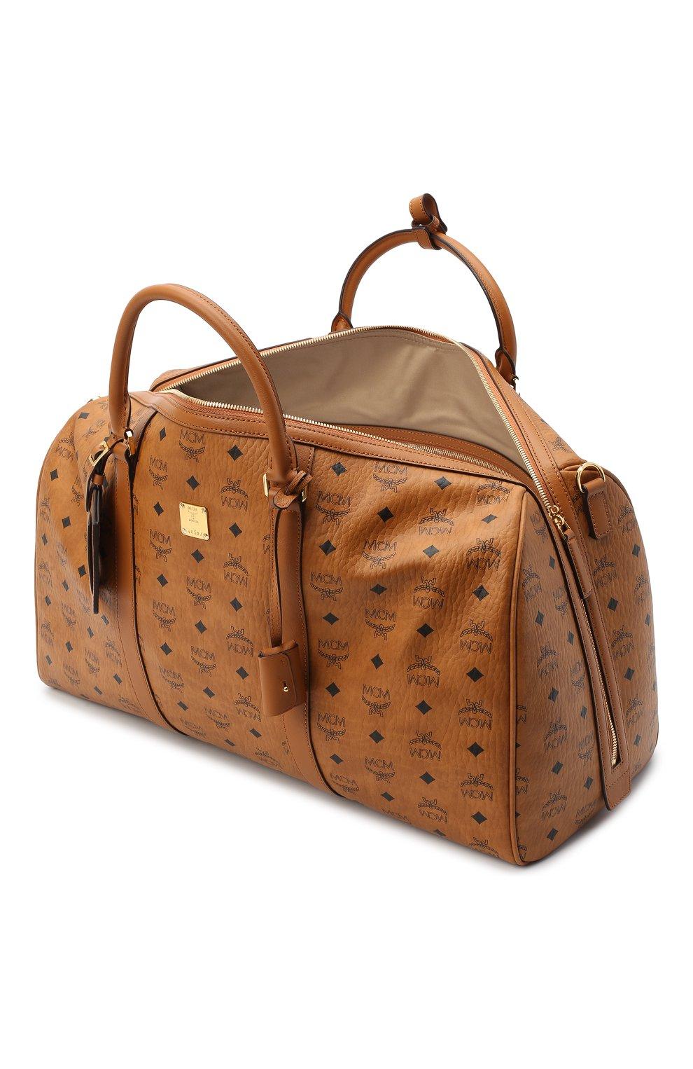 Мужская дорожная сумка traveler MCM коричневого цвета, арт. MMV AAVY02 | Фото 4