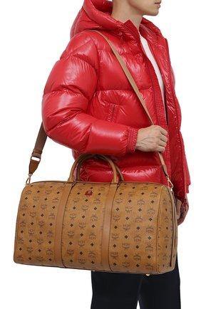 Мужская дорожная сумка traveler MCM коричневого цвета, арт. MMV AAVY02 | Фото 5