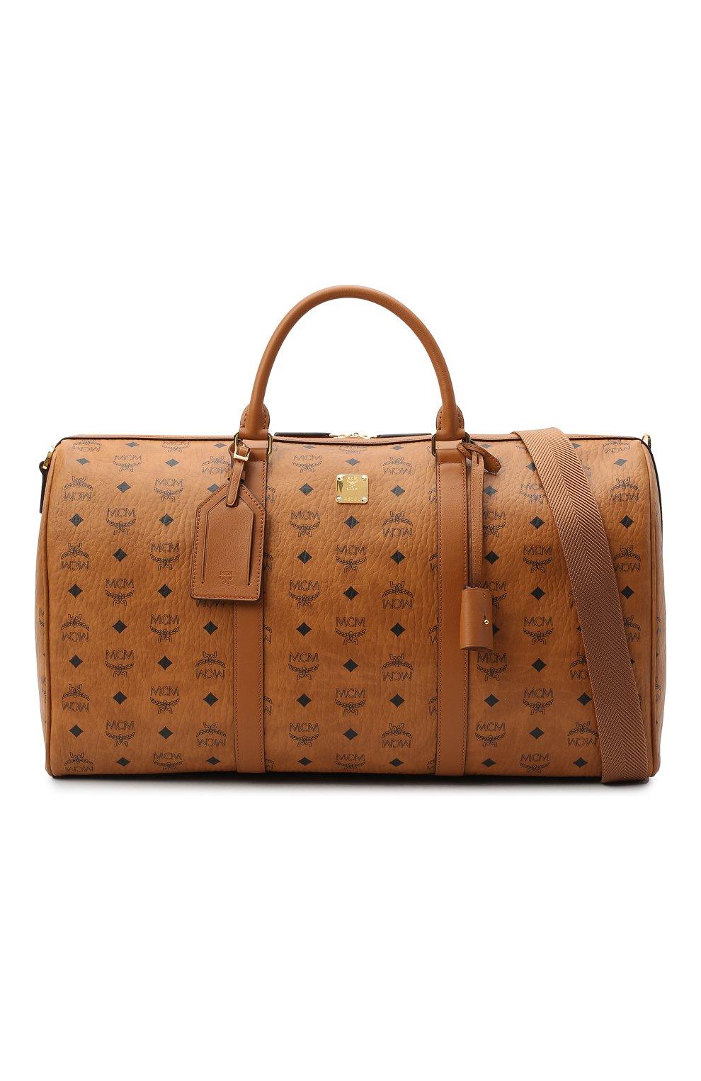 Мужская дорожная сумка traveler MCM коричневого цвета, арт. MMV AAVY02 | Фото 6