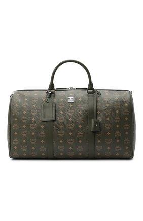 Мужская дорожная сумка traveler MCM хаки цвета, арт. MMV AAVY02 | Фото 1