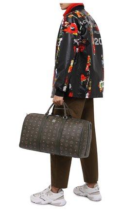 Мужская дорожная сумка traveler MCM хаки цвета, арт. MMV AAVY02 | Фото 2