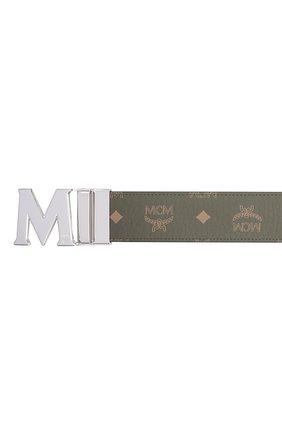 Мужской ремень MCM хаки цвета, арт. MXB AAVI01 | Фото 3