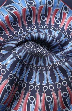 Мужской шелковый платок ZILLI синего цвета, арт. 51206/HANDKERCHIEF | Фото 2