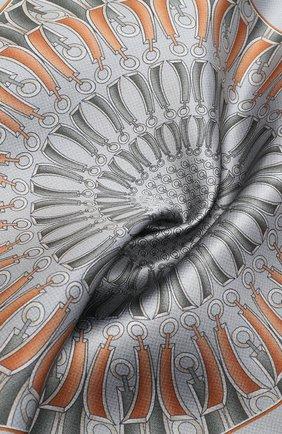 Мужской шелковый платок ZILLI серого цвета, арт. 51206/HANDKERCHIEF | Фото 2