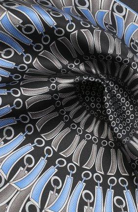 Мужской шелковый платок ZILLI черного цвета, арт. 51206/HANDKERCHIEF   Фото 2 (Материал: Шелк, Текстиль)