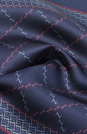 Мужской шелковый платок ZILLI темно-синего цвета, арт. 51200/HANDKERCHIEF | Фото 2