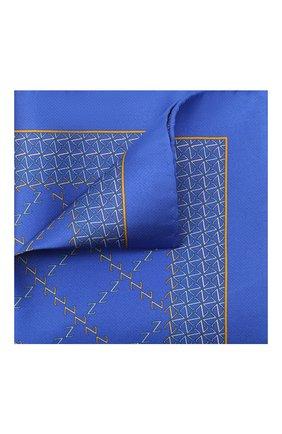 Мужской шелковый платок ZILLI синего цвета, арт. 51200/HANDKERCHIEF | Фото 1