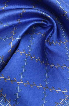 Мужской шелковый платок ZILLI синего цвета, арт. 51200/HANDKERCHIEF | Фото 2