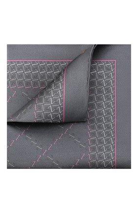 Мужской шелковый платок ZILLI серого цвета, арт. 51200/HANDKERCHIEF | Фото 1