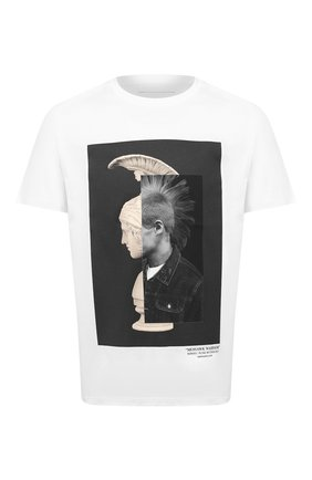 Мужская хлопковая футболка NEIL BARRETT белого цвета, арт. BJT793B/P508S | Фото 1