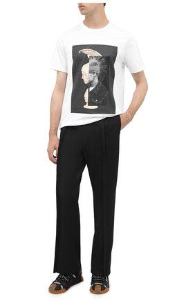 Мужская хлопковая футболка NEIL BARRETT белого цвета, арт. BJT793B/P508S | Фото 2
