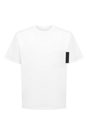 Мужская хлопковая футболка NEIL BARRETT белого цвета, арт. PBJT830C/P554S | Фото 1