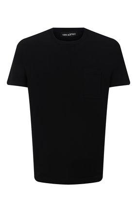 Мужская футболка NEIL BARRETT черного цвета, арт. PBMA1110/P603 | Фото 1