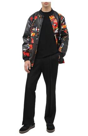 Мужская футболка NEIL BARRETT черного цвета, арт. PBMA1110/P603 | Фото 2