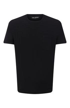 Мужская футболка NEIL BARRETT темно-синего цвета, арт. PBMA1110/P603 | Фото 1