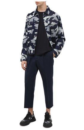 Мужская футболка NEIL BARRETT темно-синего цвета, арт. PBMA1110/P603 | Фото 2