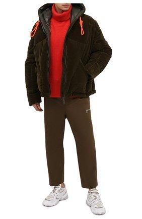 Мужская пуховая куртка KHRISJOY хаки цвета, арт. BFPM035/VEL | Фото 2
