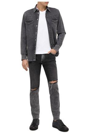 Мужская джинсовая рубашка DOLCE & GABBANA серого цвета, арт. G5EX7D/G8CP3 | Фото 2