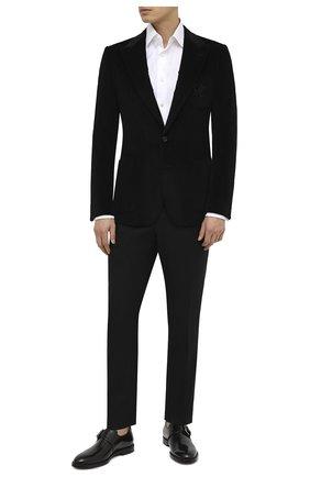 Мужской хлопковый пиджак DOLCE & GABBANA черного цвета, арт. G20S7Z/FUVB2 | Фото 2