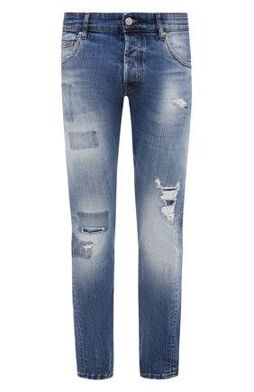 Мужские джинсы DON THE FULLER синего цвета, арт. DHW0/MILAN0 ALFA/DTF/45 | Фото 1