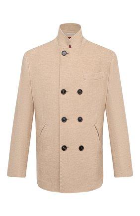 Мужской кашемировое пальто BRUNELLO CUCINELLI бежевого цвета, арт. MT4977003 | Фото 1